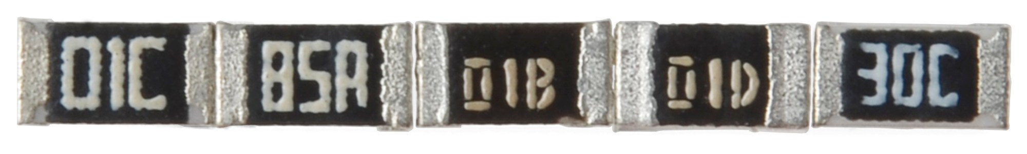 hight resolution of resistors marked with e 96 codes