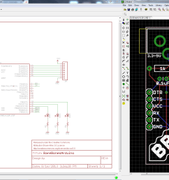 schematic and board layout from using eagle tutorials [ 2282 x 1080 Pixel ]