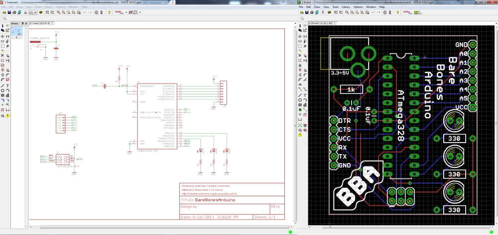 medium resolution of schematic and board layout from using eagle tutorials