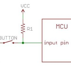 Resistor Circuit Diagram Swann Dvr Wiring Resistors Learn Sparkfun Com A Pulling Up Button Input