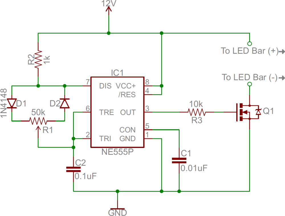 medium resolution of 555 dimmer circuit