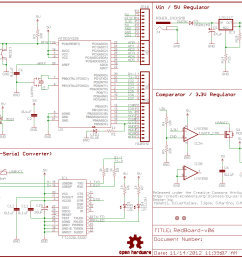 how to read a schematic learn sparkfun com schematic wire diagram example of a sectioned schematic [ 1253 x 936 Pixel ]