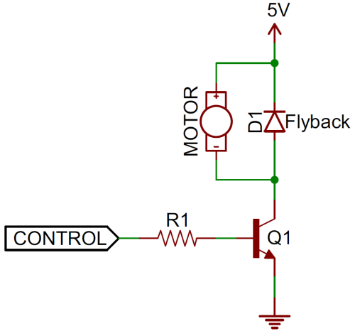 small resolution of flyback diode circuit