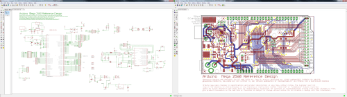 small resolution of board and schematic view both open