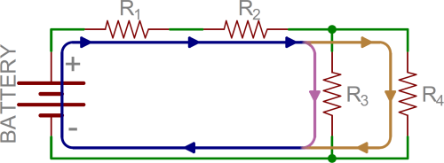 small resolution of example of current flow through circuit