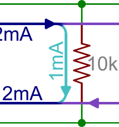schematic two parallel resistors in parallel with a battery [ 1674 x 658 Pixel ]