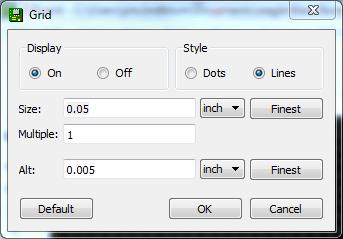 Default grid settings are good