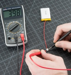 how to use a multimeter learn sparkfun com of the wires with a volt meter when changing any electrical component [ 1000 x 1000 Pixel ]