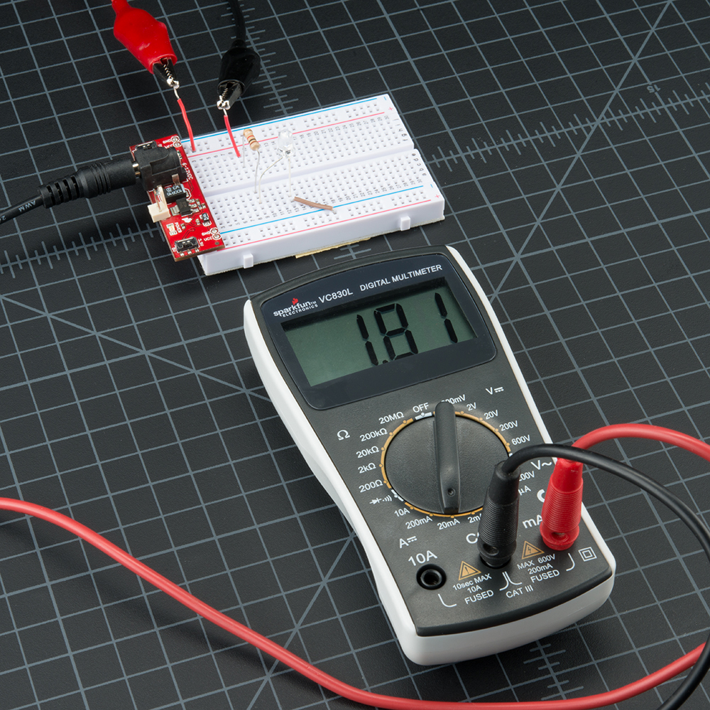 medium resolution of how to use a multimeter learn sparkfun com of the wires with a volt meter when changing any electrical component