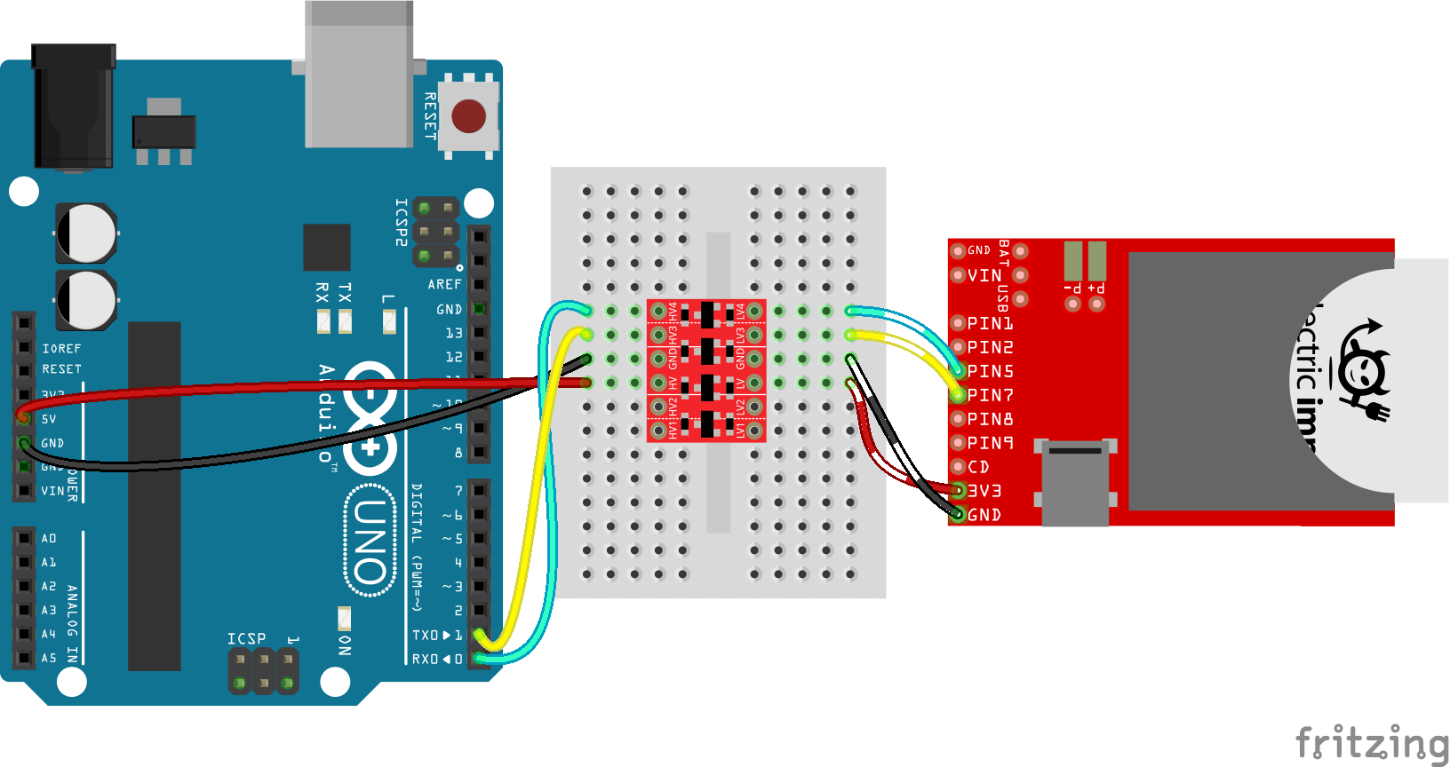 wiring diagram explained switch bi directional logic level converter hookup guide learn sparkfun com arduino to electric imp serial via bd llc