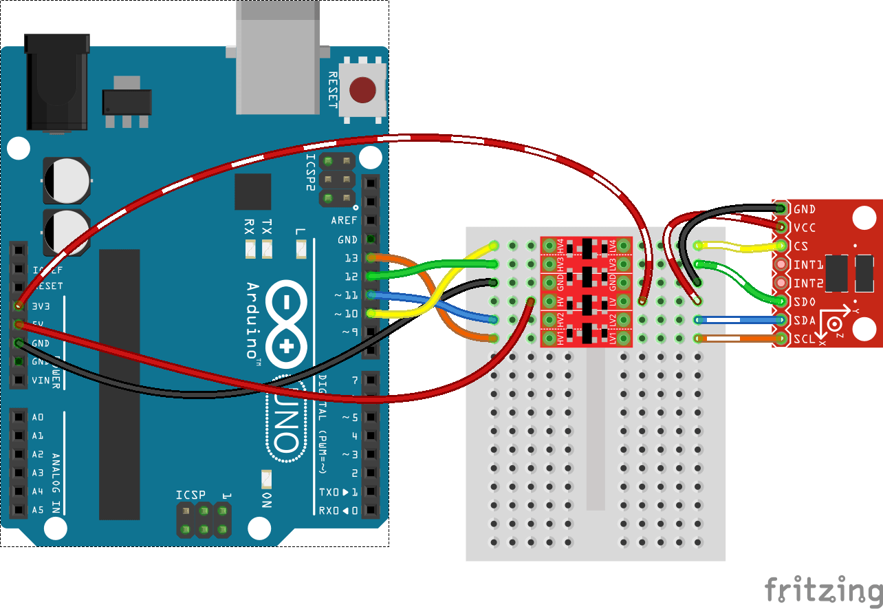 hight resolution of spi adxl345 to arduino via bd llc