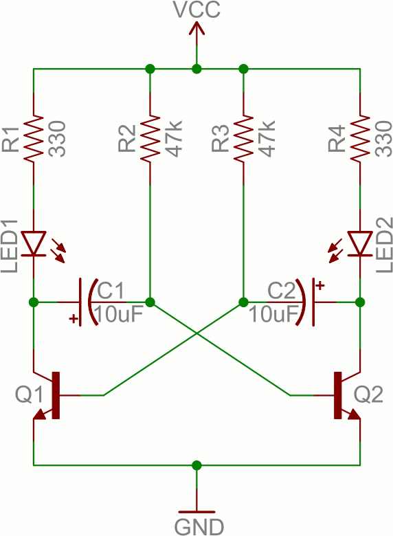 one way switch wiring diagram photosynthesis and respiration venn transistors learn sparkfun com astable multivibrator