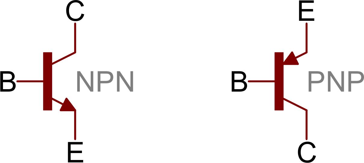 transistor wiring diagram visual studio uml class transistors learn sparkfun com npn and pnp symbols