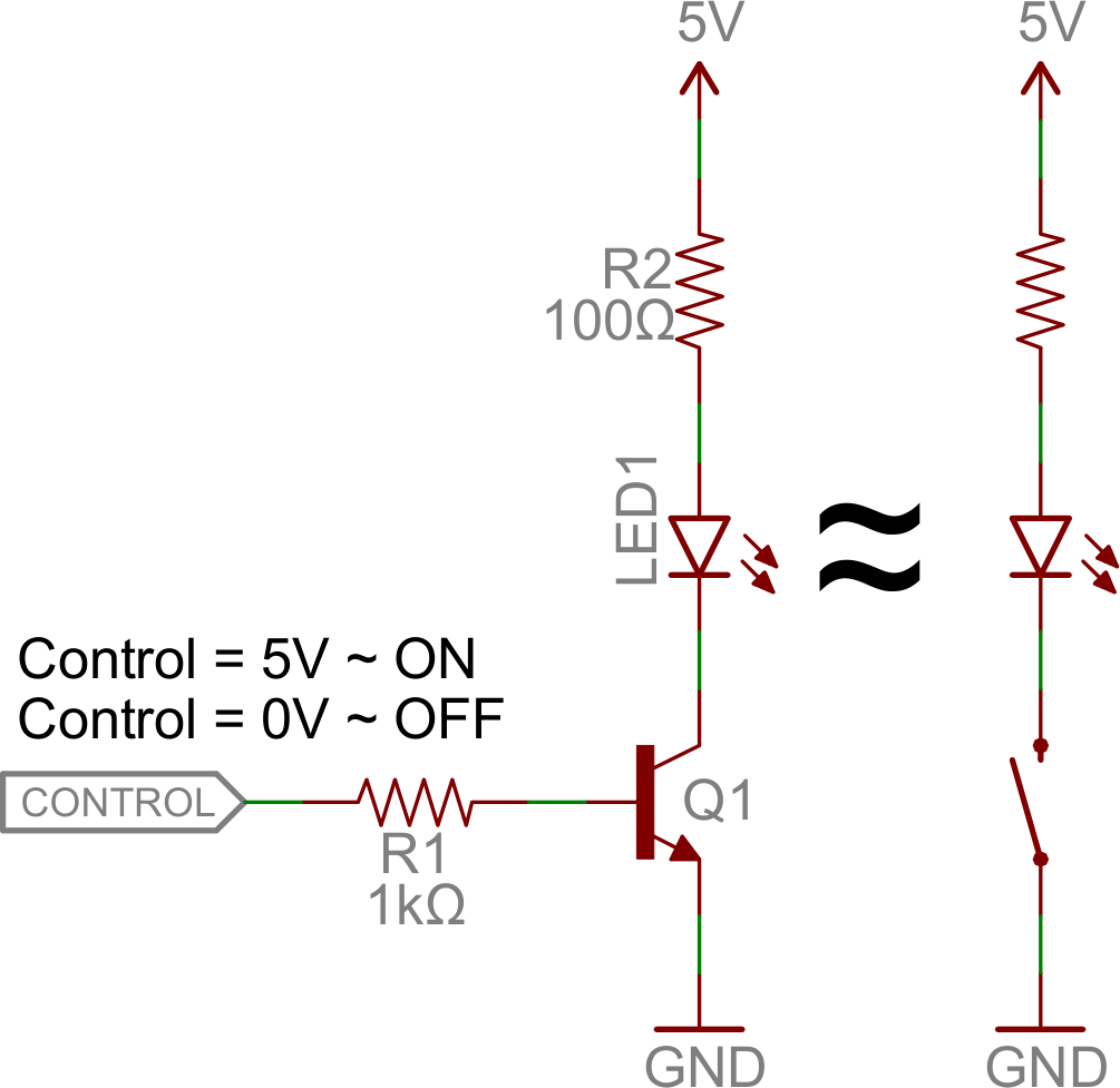 hight resolution of transistor switch