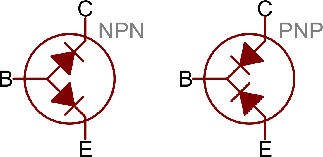 transistor wiring diagram grid tie inverter block transistors learn sparkfun com as two diodes