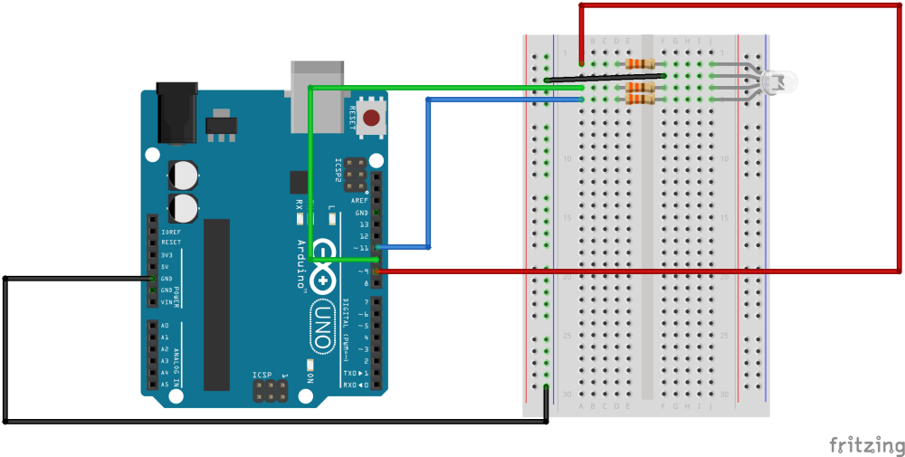 medium resolution of sik experiment guide for arduino v3 2 learn sparkfun com rgb led schematic three leds connected to an arduino board