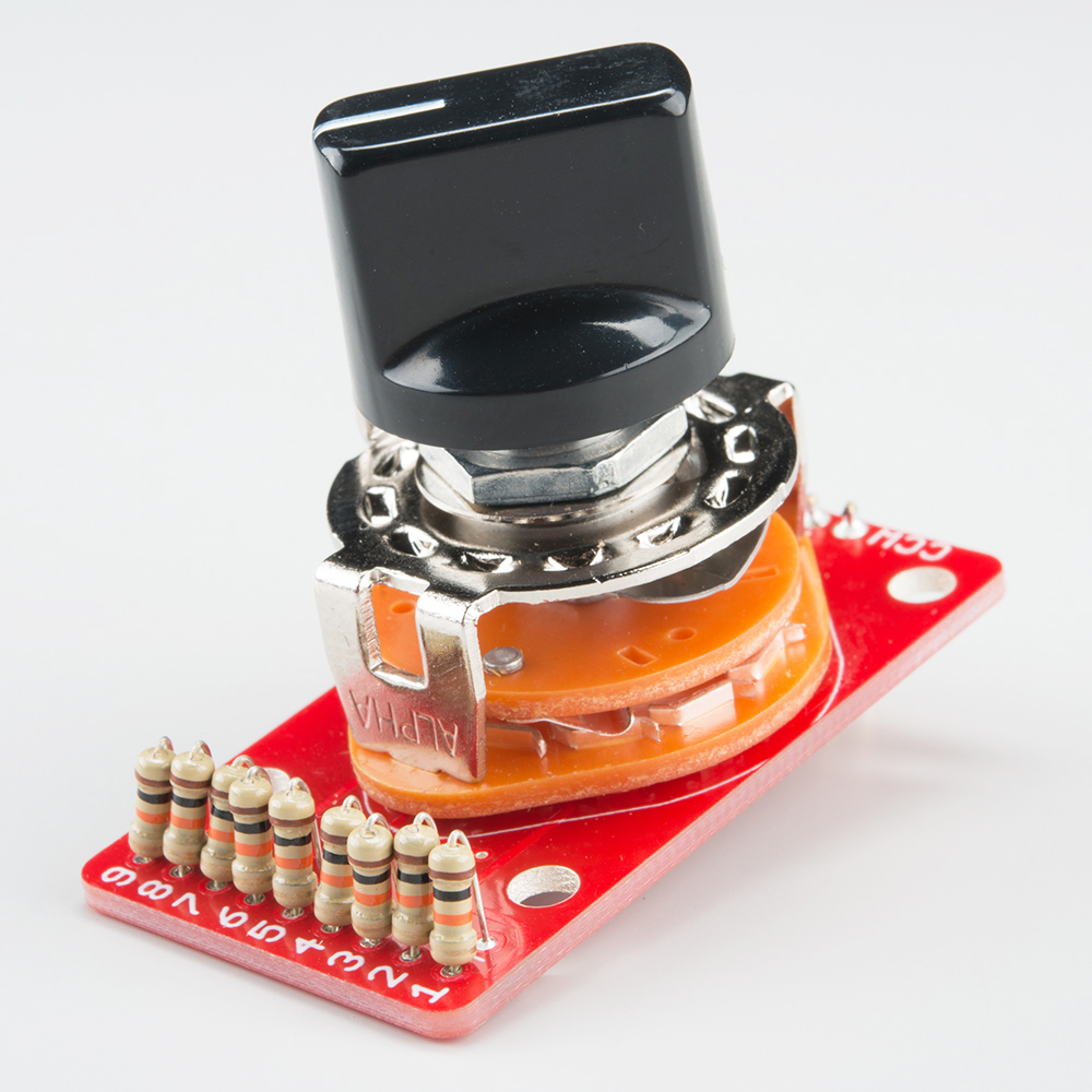 hight resolution of rotary switch potentiometer