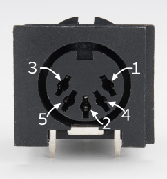 5 pin din connector [ 1000 x 1000 Pixel ]