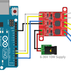 arduino connection with one led per channel [ 1527 x 864 Pixel ]