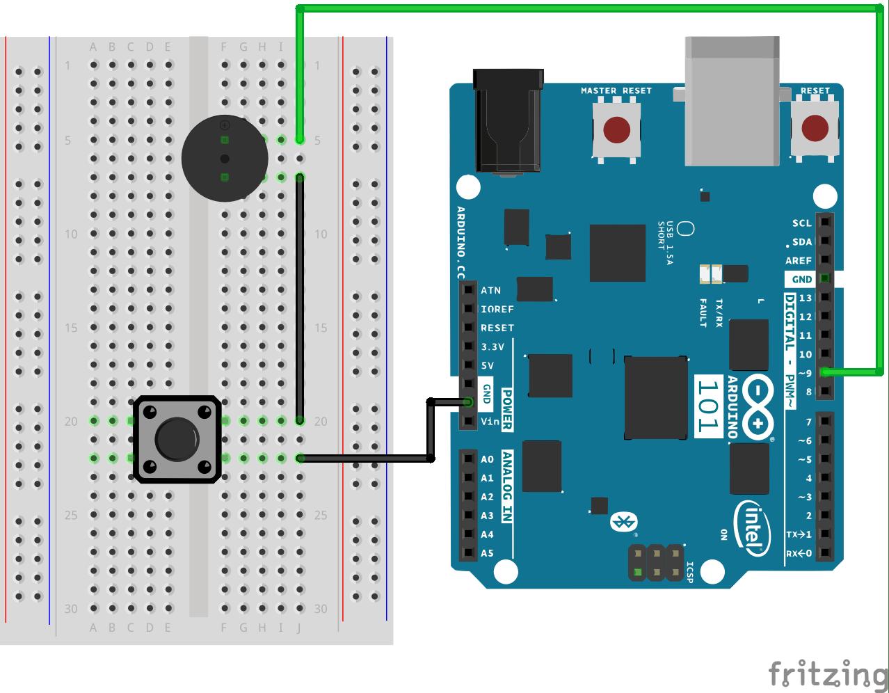 hight resolution of fritzing diagram buzzer