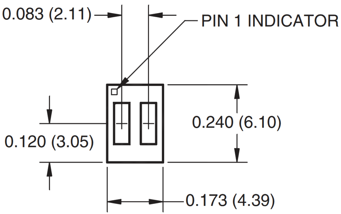 hight resolution of top down diagram of the qrd1114 note the pin 1 indicator