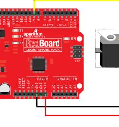 connecting a servo to a redboard [ 1182 x 804 Pixel ]