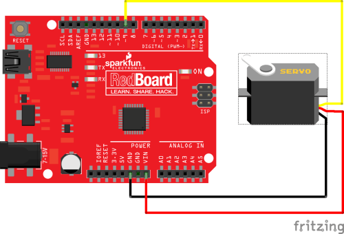 small resolution of connecting a servo to a redboard