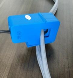 non invasive current sensor clamped [ 1000 x 940 Pixel ]