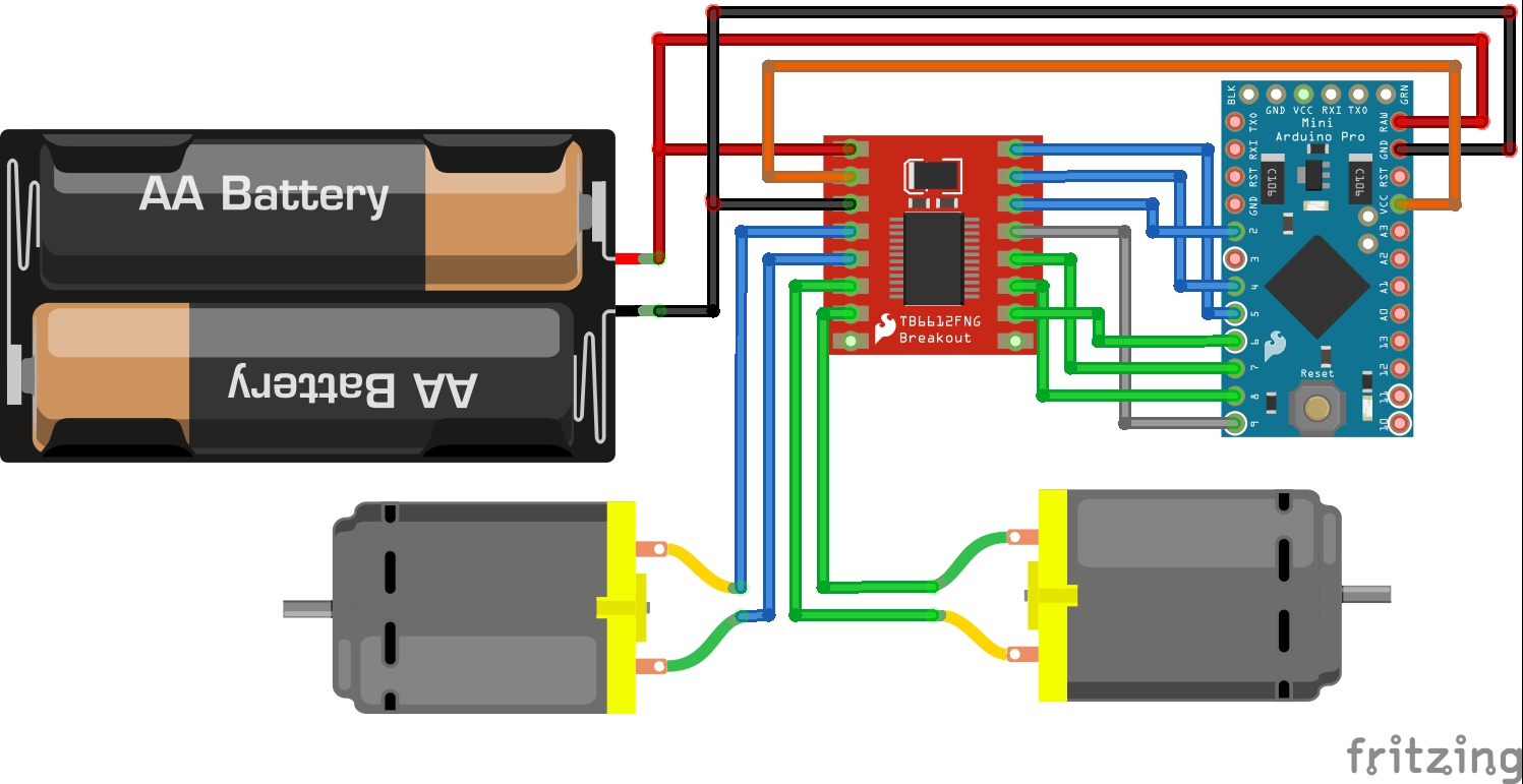 hight resolution of here is a fritzing diagram showing how all the connections were made