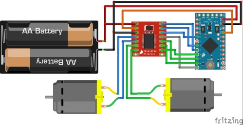 small resolution of here is a fritzing diagram showing how all the connections were made