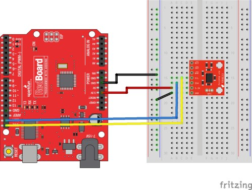 small resolution of wiring diagram showing basic connection to redboard click for a closer look