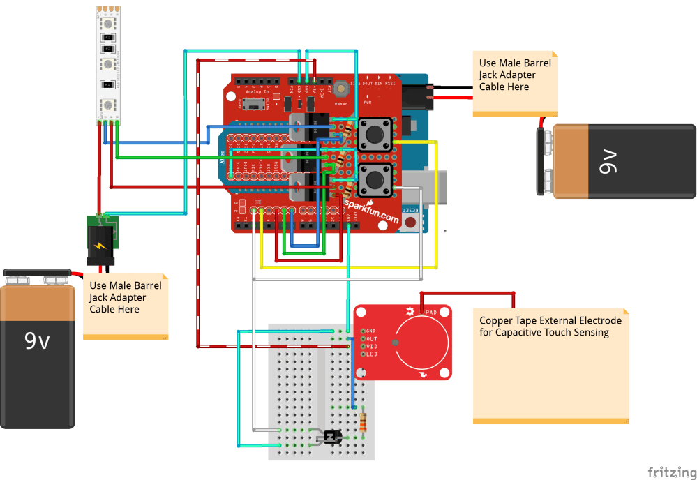 medium resolution of interactive 3d printed led diamond prop learn sparkfun com circuit diagram diamond