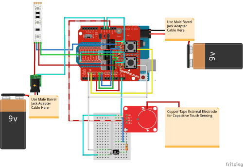 small resolution of interactive 3d printed led diamond prop learn sparkfun com circuit diagram diamond