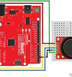 thumb joystick circuit arduino [ 1155 x 927 Pixel ]