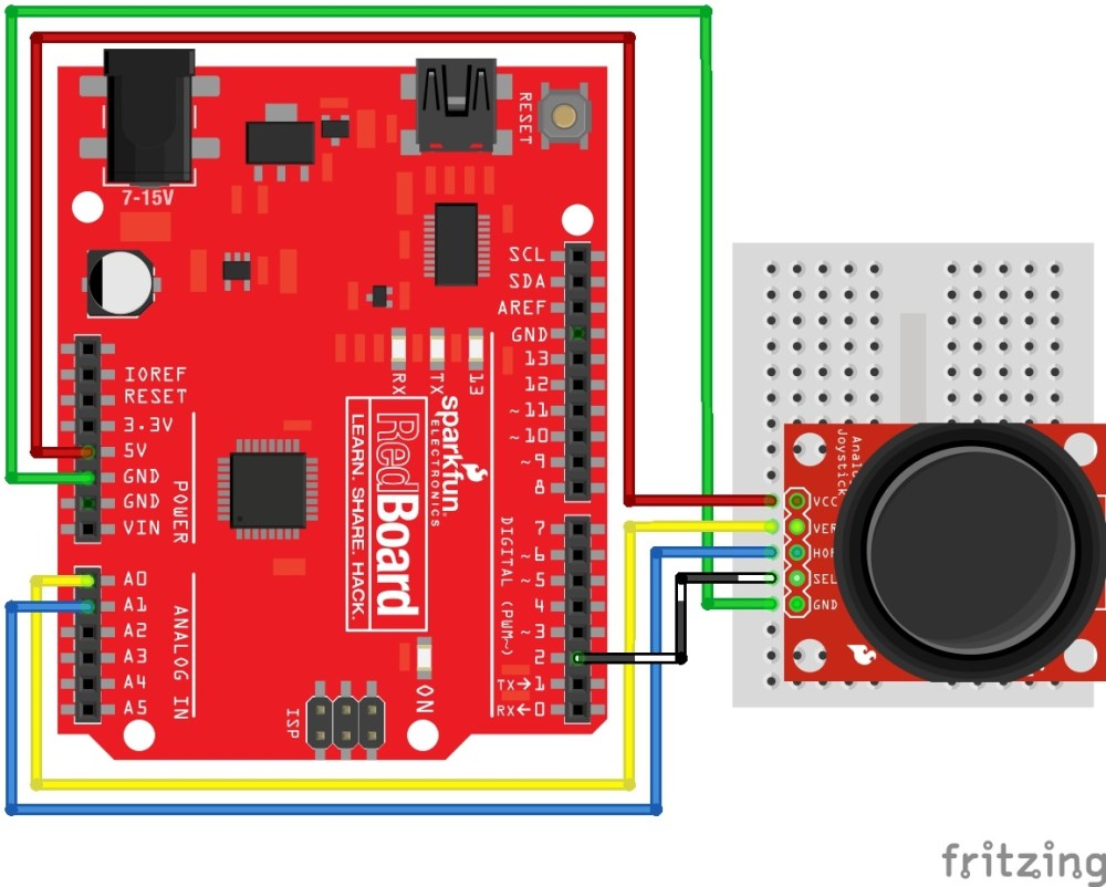 medium resolution of thumb joystick circuit arduino