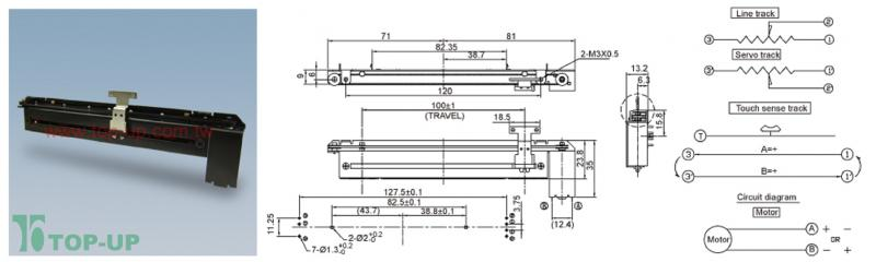 100 V Motor Wiring Diagram Slide Pot Motorized 10k Linear Taper Com 10976