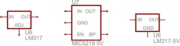 Voltage regulator symbols