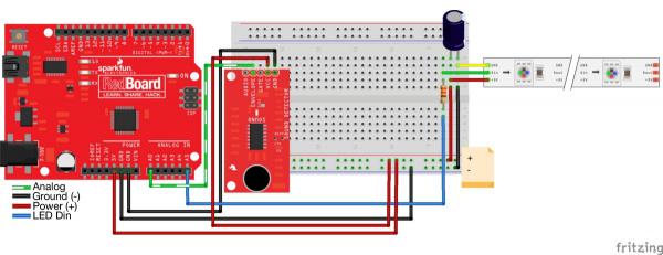 Sound Triggered Led Circuit Schematic Diagram
