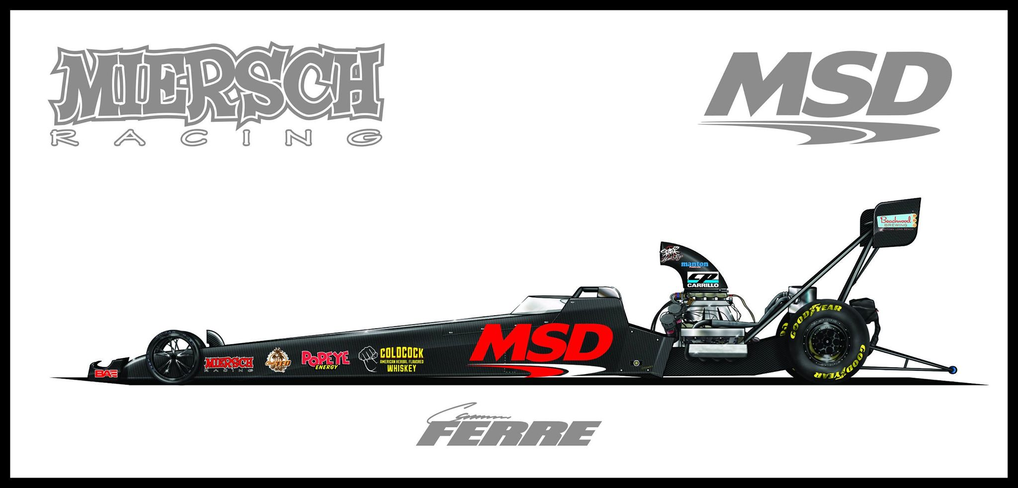 Cameron Ferre To Fly Msd Performance Banner At Nhra Spring