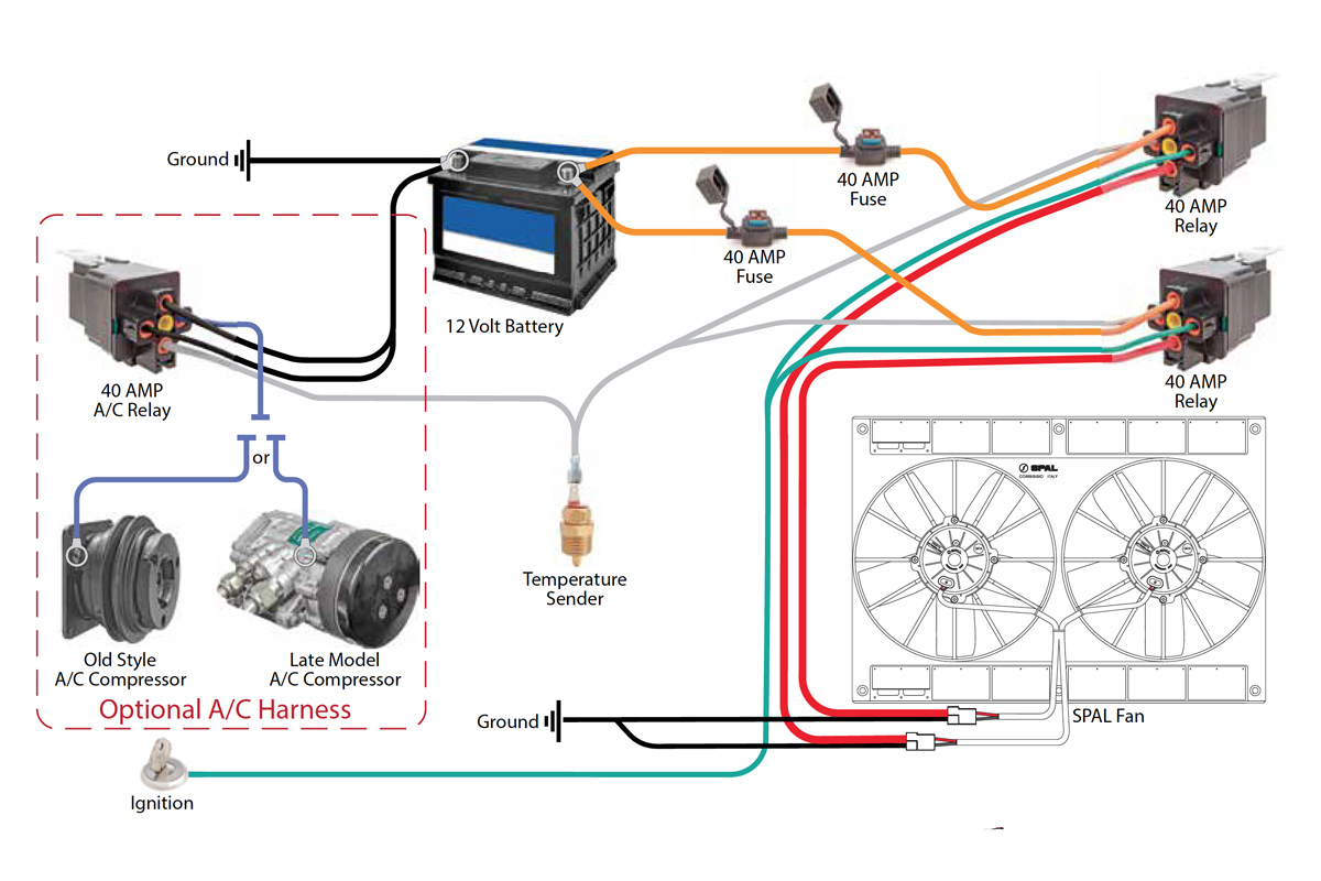 ac electric car wiring diagram ford straight 6 engine safely fan relay with c andr racing