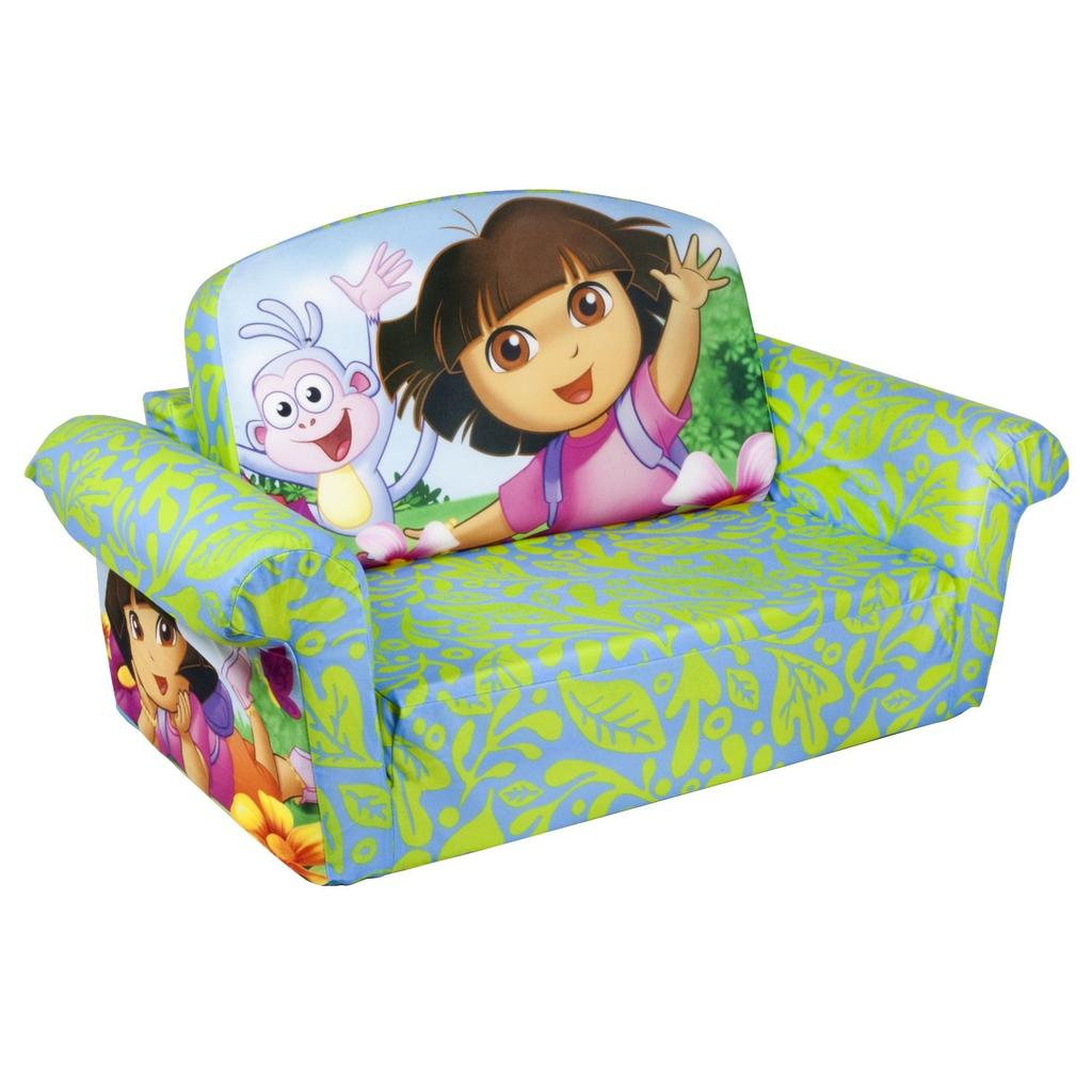 dora the explorer flip out sofa bed leather sofas covers spin master marshmallow furniture open