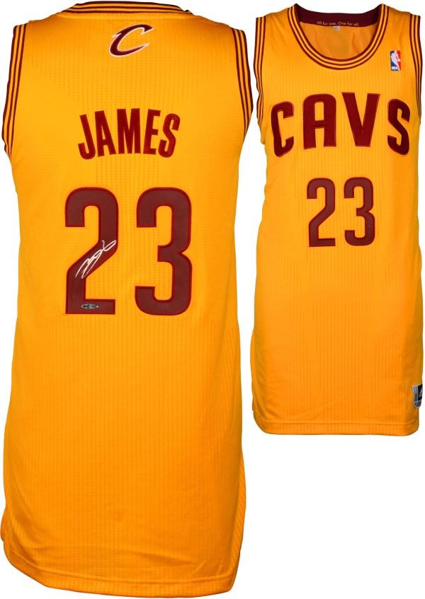 Lebron James Cleveland Cavaliers Autographed Authentic