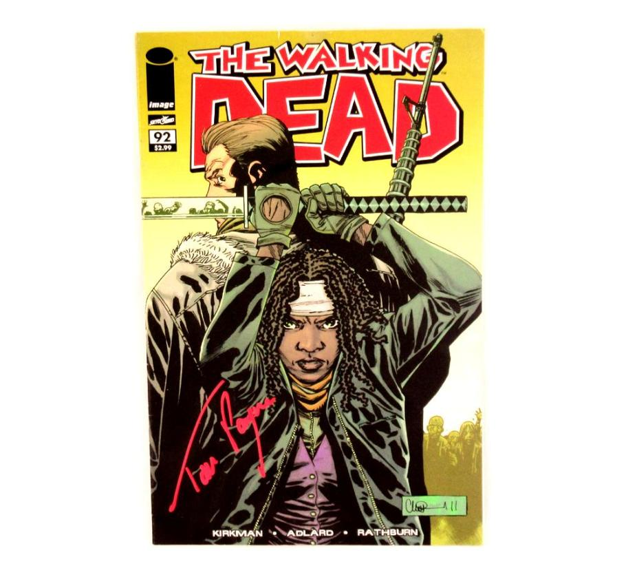 Tom Payne Signed The Walking Dead Comic Book #92 - First Appearance of Jesus