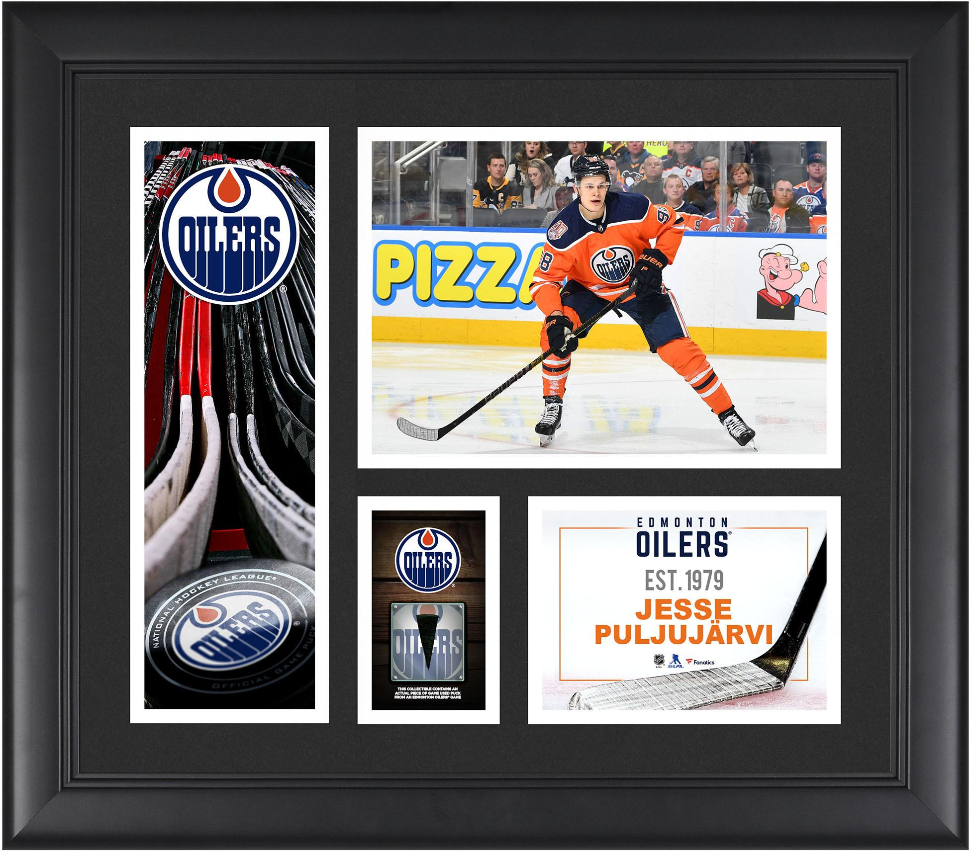 c429dad38 Jesse Puljujarvi Edmonton Oilers Framed 15″ x 17″ Player Collage with a  Piece of Game-Used Puck –  66.49