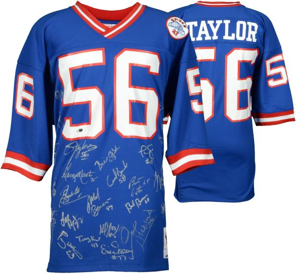 1986 Ny Giants Multi-signed Mitchell & Ness Authentic