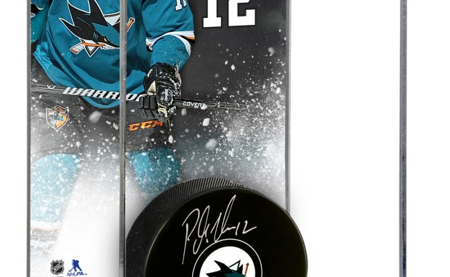 Patrick Marleau San Jose Sharks Deluxe Tall Hockey Puck Case