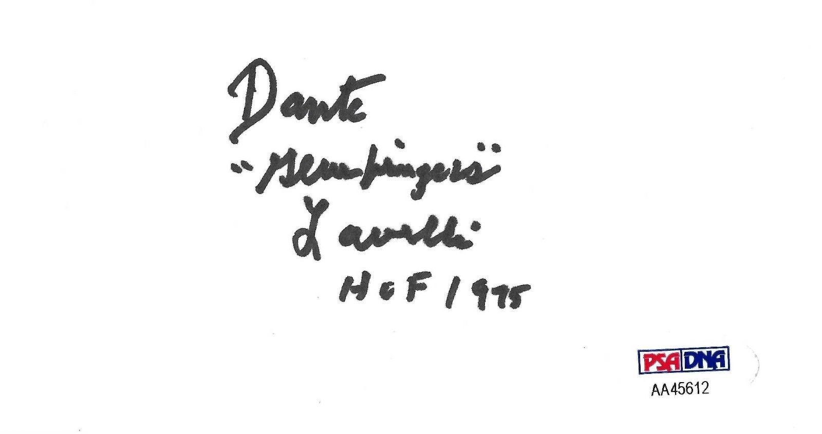 Dante Lavelli Signed 3x5 Index Card Psa Dna Us Army Wwii