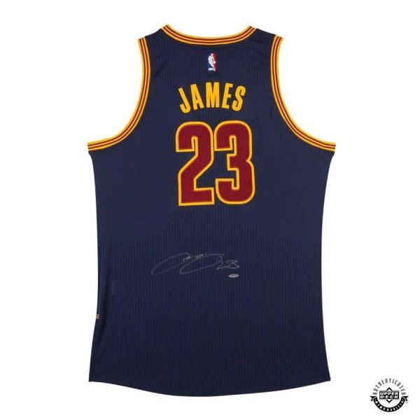 Signed Lebron James Jersey - Alternate Blue Adidas