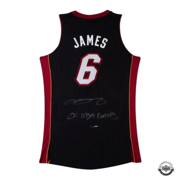 Lebron James Signed Jersey - & Inscribed 2x Champs Black