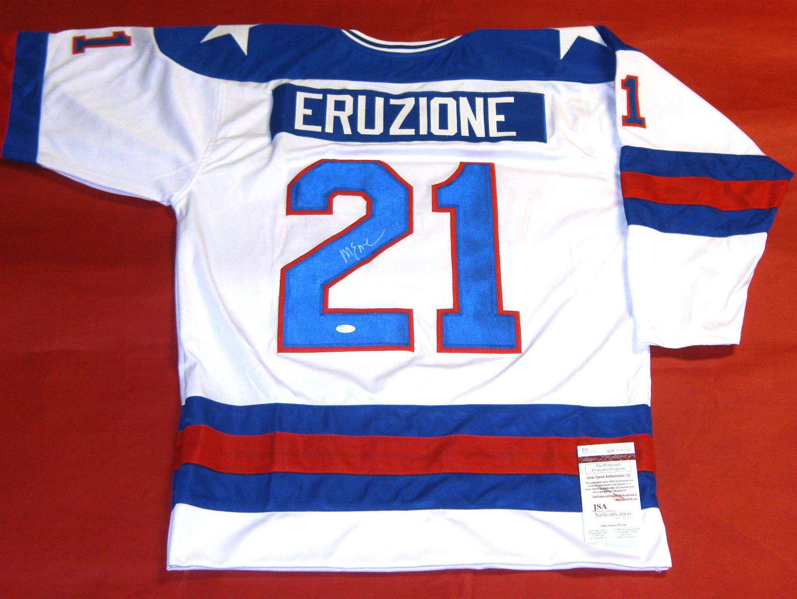 Mike Eruzione Autographed Miracle On Ice Usa Hockey
